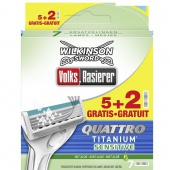 Кассеты для станка  Wilkinson Sword Quattro Titanium Sensitive 7шт